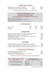 Menu Chez paul - Les huîtres, salades, tartares,...