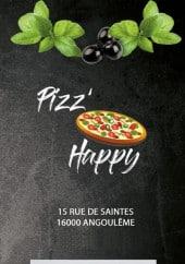 Menu Pizz'Happy - Carte et menu Pizz'Happy Angouleme