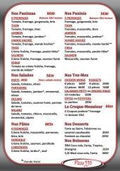 Menu Pizza 335 - Les panizzas, paninis,....