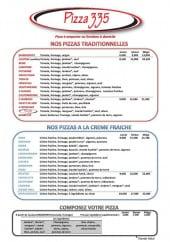 Menu Pizza 335 - Les pizzas
