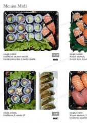 Menu Sushi 16 - Les menus midi