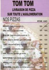 Menu TomTom - pizzas
