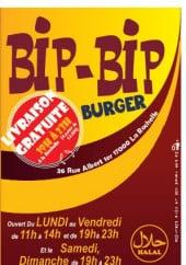 Menu Bip Bip Burger - La carte