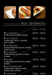 Menu La Ruche - Les sandwiches