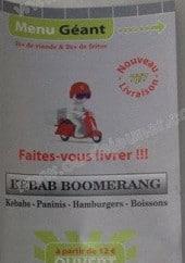 Menu Le Boomerang - Carte et menu Le Boomerang La Rochelle
