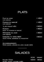 Menu Maison Marin - Plats et salades