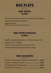Menu Chez Basilic'o - Plats