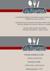 Menu Le Marydiane - Les menus