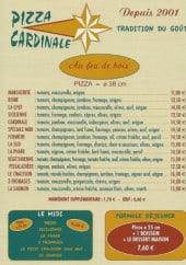 Menu Pizza Cardinale - Menu
