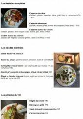 Menu Le 108 - Les assiettes complètes, salades, entrées