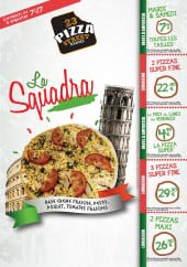 Menu 23 Pizza Street - Carte et menu 23 Pizza Street Bourges