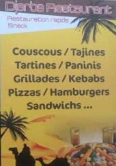 Menu Djerba Restaurant - Les informations sur les menus