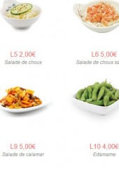 Menu Sushi One - Le accompagnements