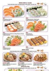 Menu Wasabï - Les menus midi