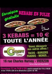 Carte et menu Le Crousty Time Vierzon