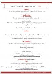 Menu Auberge du Détour - menu groupe formule à 35€