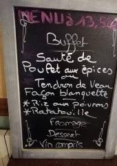 Menu Le Lavoir - Le menu du jour