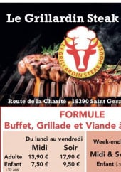 Menu Le Grillardin Steak House - Formules