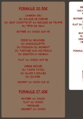 Menu Le grill de la Gueulardière - Les formules et menus du jour