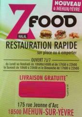 Menu Z Food - Menu à la carte