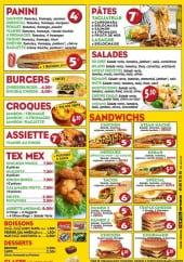 Menu Allo Pizza Plus - Paninis, salades desserts et boissons