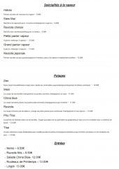 Menu China Blue - Les spécialités à la vapeur, potages et entrées