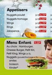 Menu Le Roi Burger - Les apéritifs et menu enfant