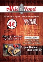 Menu Afric'n Food - Carte et menu Afric'n Food  Dijon
