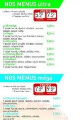 Menu Burger Station - Les menus