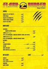 Menu Flash Burger - Les tapas, boissons et desserts