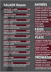 Menu La Lib - Salades entrées, desserts