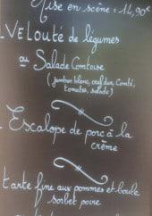 Menu Les Z'Artistes - Exemple de menu