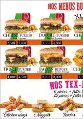 Menu Naan saveur - Les burgers et tex-mex