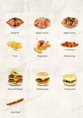 Menu 911 Pizza - Les salades et burgers