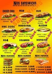 Menu Miami chicken - Les sandwiches