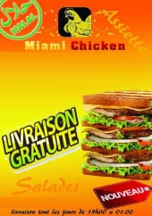 Menu Miami chicken - Carte et menu Miami chicken Saint Brieuc