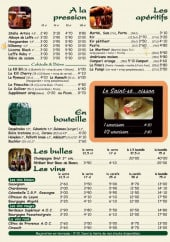 Menu Au Vieux Saint Sauveur - Les bières, apéritifs, bulles et vins
