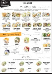 Menu Sushi king - Sushis