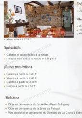 Menu Crêperie Les Remparts - Les menus galettes, formule viande ...
