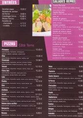 Menu Pizzeria La Casa - Les entrées, les salades repas et pizzas côté terre...
