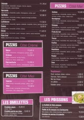 Menu Pizzeria La Casa - Les pizzas côté terre suite, les pizzas côté crème...