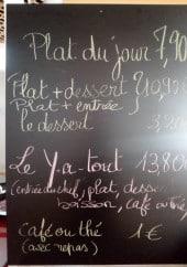 Menu La Brasserie 23 - les plat