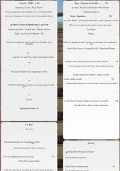 Menu Domaine de Vareilles - Formules, plats et desserts