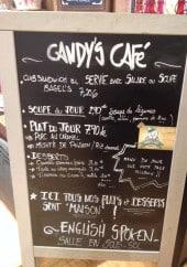 Menu Candy's Café - Soupes, plats, desserts
