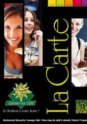 Menu Garden Ice Cafe - Carte et menu Garden Ice Cafe Perigueux