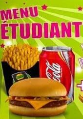 Menu Burger shop - Menu étudiant