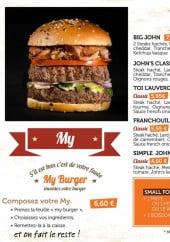Menu Jules & John - Burgers