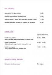 Menu Le Chat Perché - Entrées, salades et suggestions