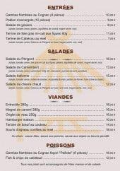 Menu La Paillote de Saint Saud - Entrées, salades, viandes,...