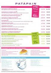 Menu Patàpain - Carte et menu